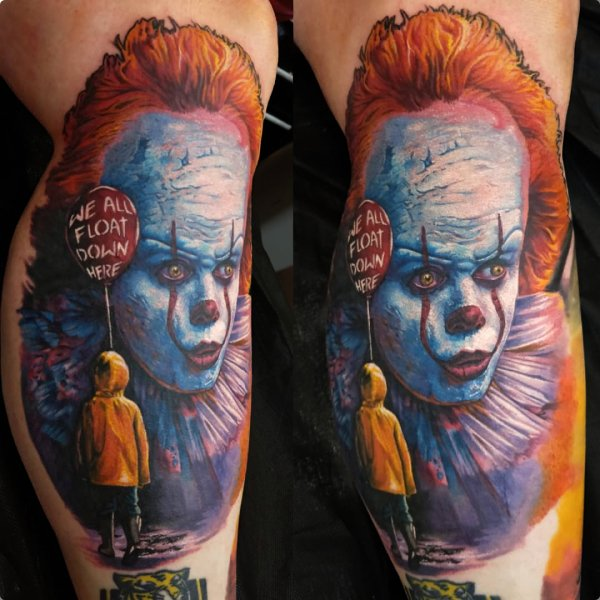 pennywise clown tattoo